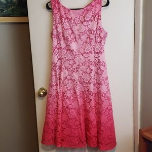 New York and Co Pink Ombre dress
